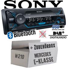 Sony Autoradio für Mercedes E-Klasse W210 DAB+/Bluetooth/MP3/USB Auto Einbauset