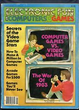 1983 Electronic Fun Video Game Magazine January #3 Journey Escape River Raid