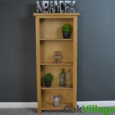 Narrow Oak Bookcase With 4 Large Shelves Oakley