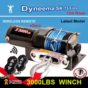 I-Max Electric Winch 12V Wireless 3000LBS / 1361KGS Synthetic Rope ATV 4WD BOAT
