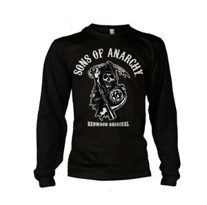 Official Sons Of Anarchy Redwood Original Long Sleeve Fitted T-Shirt - Black