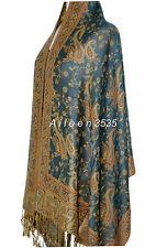 Gorgeous Pashmina & Silk Paisley Shawl/Wrap/Scarf