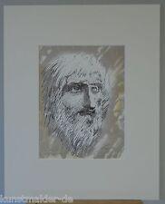 Ernst FUCHS (1930-2015) Original Lithographie aus dem Jahr 1982 : JAHVE 3/8