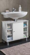 Wilmes: Waschbecken-Unterschrank Simply - Badschrank Badmöbel - Betonoptik-Weiß