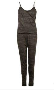 "PROTEST Women's Black Striped Elasticated Waist ""VARGA"" Jumpsuit. Large/40."