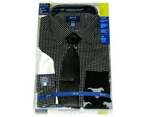 Mens 2XL Dress Shirt Tie Cufflinks Dino Socks NEW 36 37 Sleeve Apt 9 XXL 18 18.5