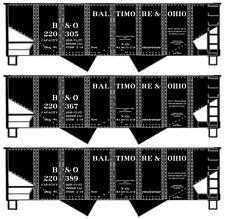 NIB HO Accurail #1222 USRA 55 ton Twin Hopper Baltimore & Ohio 3 Pack Kit