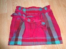Women's Aeropostale XS Plaid Skirt Elastic Waist Pink Blue