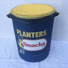 PLANTERS PEANUTS Snacks Brand Cooler Vintage Vinyl Round RARE advertising