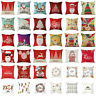 18inch Merry Christmas Pillow Case Car Sofa Throw Cushion Covers for Home Decals