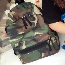 Women Girls Backpack Travel Shoulder Bag Camouflage Rucksack School Bags Handbag