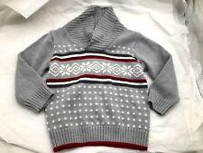 Gymboree gray red boys girls baby Xmas snowflake sweater sz 18 24 months