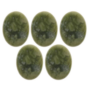 5 Pack SPA Natural Jade Hot Massage Stones, Massage Energy Stones for Body