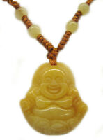 Yellow Jade Buddha Necklace