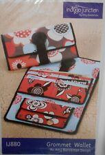 NIP Indygo Junction Grommet Wallet Craft Sewing Pattern #IJ880 By Amy Barickman