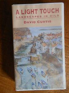 Light Touch, Landscapes in Oils, David Curtis, Painting Instr VHS Tape Plein Air