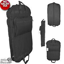"39"" BUSINESS GARMENT BAG Cover Dress Suit Foldable Luggage Pockets Hanging Black"