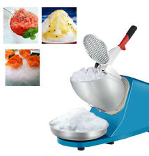220V Electric Ice Shaver Machine Snow Cone Maker Crusher Shaving Cold Drink