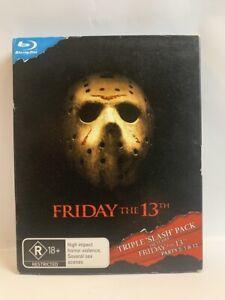 FRIDAY THE 13TH 1 2 3  Slipcase AU BLU-RAY cult 70s SLASHER horror