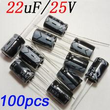 100pcs 22uf/25v Aluminum Electrolytic Capacitors