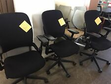 EXECUTIVE CHAIR by STEELCASE LEAP V2 MODEL 46216179 *FULLY LOADED* BLACK FABRIC