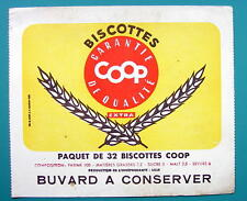 INK BLOTTER French Advertisement:  1955 Biscottes COOP Buvard Dry Biscuits