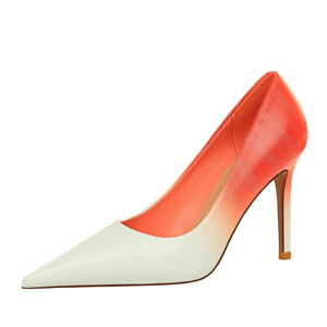 Women's Pumps Gradient Pointed Toe Stiletto High Heels Party Heels Slip On Shoes