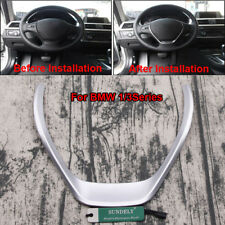 Chrome Interior Steering Wheel Cover Trim for BMW 1 3 Series F30 318 320 F20 116