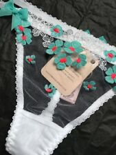 Agent Provocateur Bethanie Bridal Wedding Day Thong Sexy Knickers Size 2 BNWT