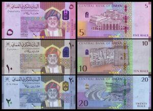 Oman 5-10-20 Rials, (2021), Hybrid note, UNC