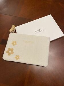 Marc Jacobs Daisy Fragrances Makeup Bag Pouch Ivory Gold Brand New