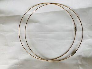 "2 x 18"" Coated Wire Chokers : BNWC11 Deep Gold"