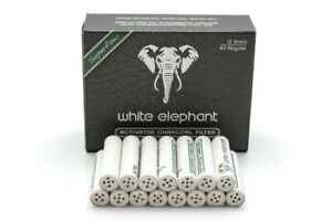 NEW White Elephant Activated Charcoal - 9mm Pipe Filters - 40 pack