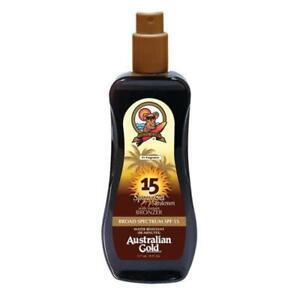 Australian Gold Dark Tanning Accelerator Spray Gel with Instant Bronzer 237ml