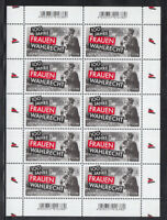 Germany 2019 - 100 years of Women's suffrage 10 Stamps MNH / ** Sheet