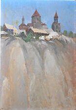 Armenian Art Gallery,Oil Painting,HAGHPAT By ALEXANDER  GEVORGYAN,Armenia 1981