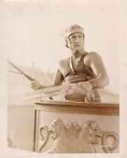 FRANCIS X BUSHMAN Original CANDID Chariot Vintage '25 BEN HUR MGM Beefcake Photo