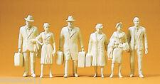 Preiser 45177 Passeggero, 6 personaggi non colorati, per LGB , 1: 22,5
