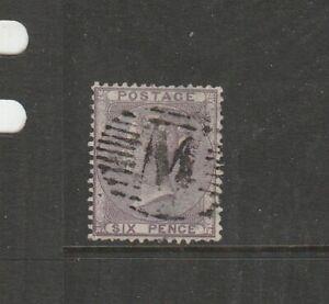 Malta GB Used in 1859/84 6d Lilac M Cancel, SG Z55