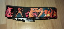 "Pokemon Kids Belt Charmander Evolution Poses Fire Pikachu Buckle Down 30"" Small"