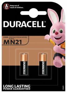 2x Duracell Batterie Security MN21 12V 23A 3LR50 V23GA 23AE A23S LRV08 CN23A