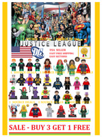 DC Minifigures Justice League Batman Superman Green Lantern Teen Titans + Marvel