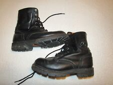 MENS VINTAGE HARLEY DAVIDSON MOTORCYCLE BOOTS IN SIZE 9.5 NICE USED SHAPE