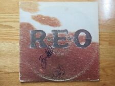 REO SPEEDWAGON's NEAL DOUGHTY BRUCE HALL signed R.E.O. 1976 Record