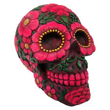 Sugar Skull Blossom Candy Skull | Nemesis Now | Cool | Tattoo | Coloured | Pink