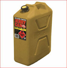 JERRY CAN 20 L LT LITRE TOUGH PLASTIC DIESEL FUEL YELLOW WITH POURER APPROVED