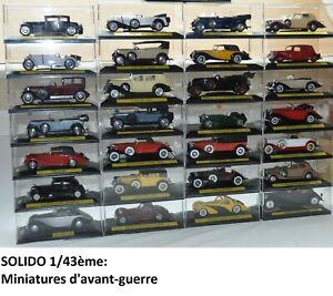 SOLIDO 1/43ème: miniatures d'avant-guerre