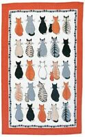 Cats in Waiting Linen Tea Towel from Ulster Weavers