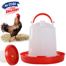 Waterer Poultry Automatic Feeder Water Drinker Chicken Chook Bird Plastic