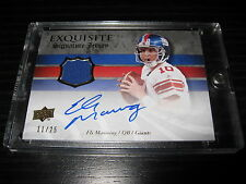 2008 UD Exquisite ELI MANNING On-Card Auto Jersey Giants #11/25